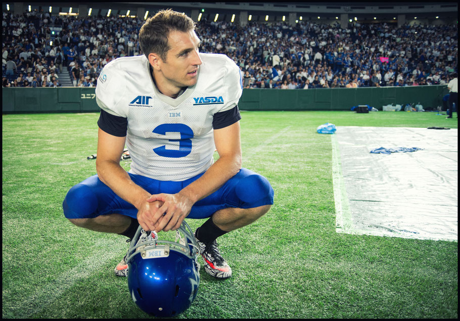 IBM Big Blue's Kevin Craft (3) after the team's 2016 Pearl Bowl win. - John Gunning, Inside Sport: Japan, June. 13, 2016