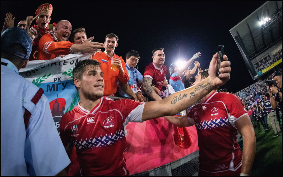 Russian players and fans post game – Sachiyo Karamatsu, Inside Sport: Japan, Sept 24, 2019
