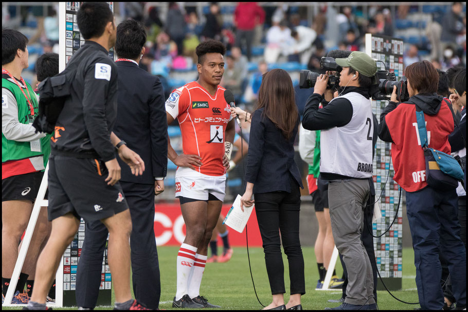 Kotaro Matsushima talks to the media after the match – Sachiyo Karamatsu Inside Sport: Japan, April 7th, 2018