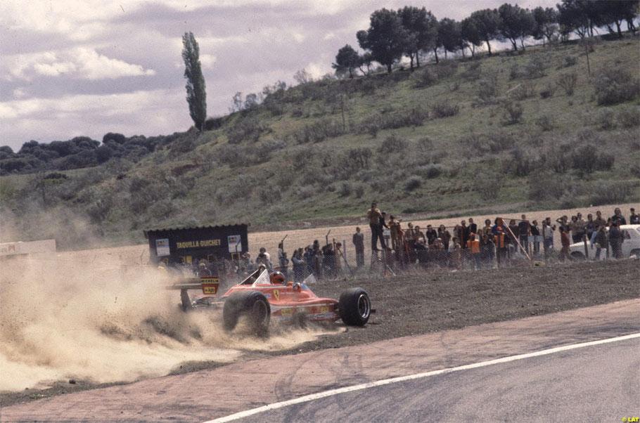 Gilles Villeneuve en el Jarama con su Ferrari