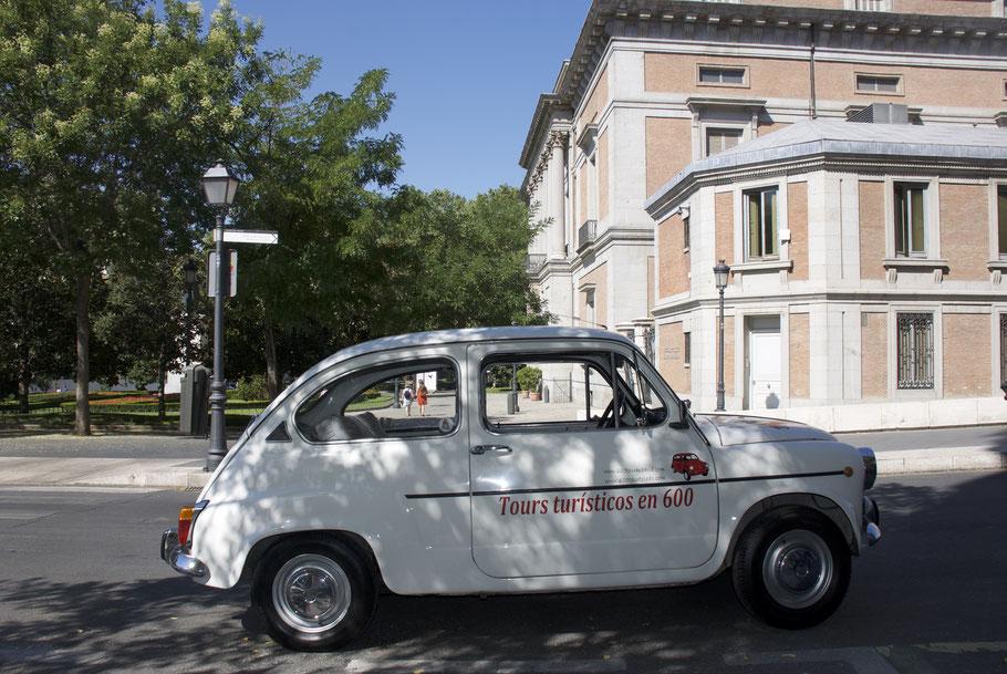recorrido arte Madrid en Seat 600 y museos