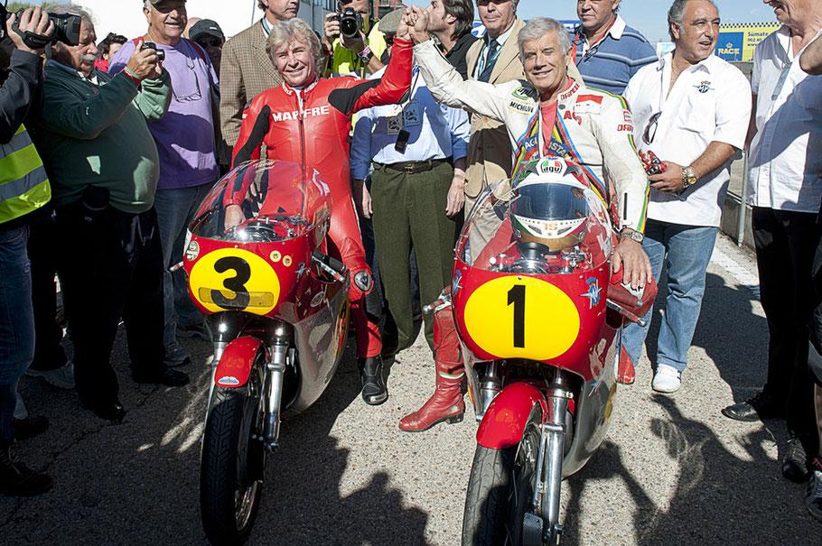 Agostini y Angel Nieto en el Jarama