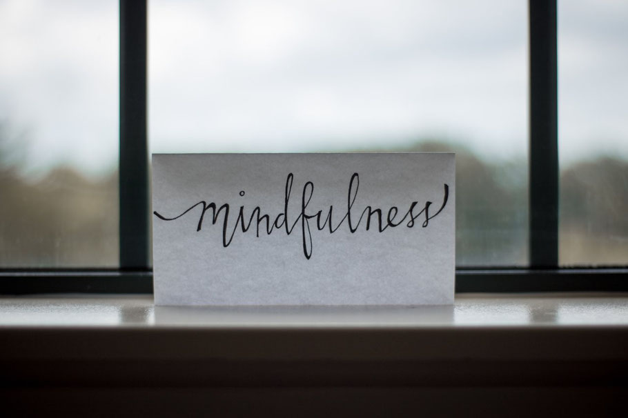 Mindfulness note on window