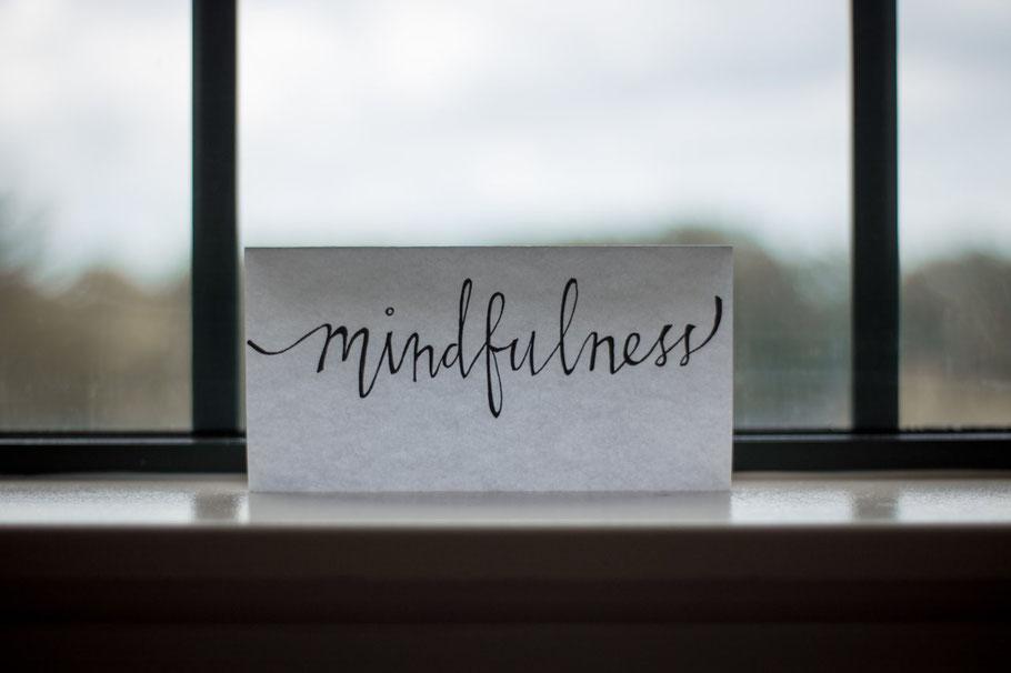 Mindfulness note on window