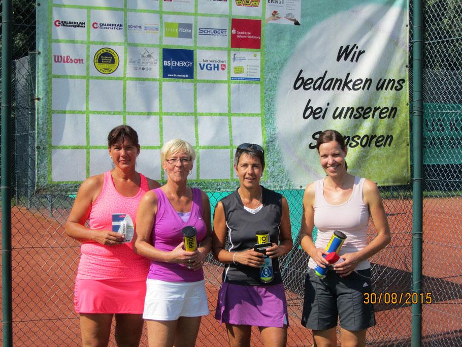 Da 40 HF: 4. Sabine Ziebart, 3. Antje Meyer, 2. Claudia Holland u. 1. Silvia Thölert