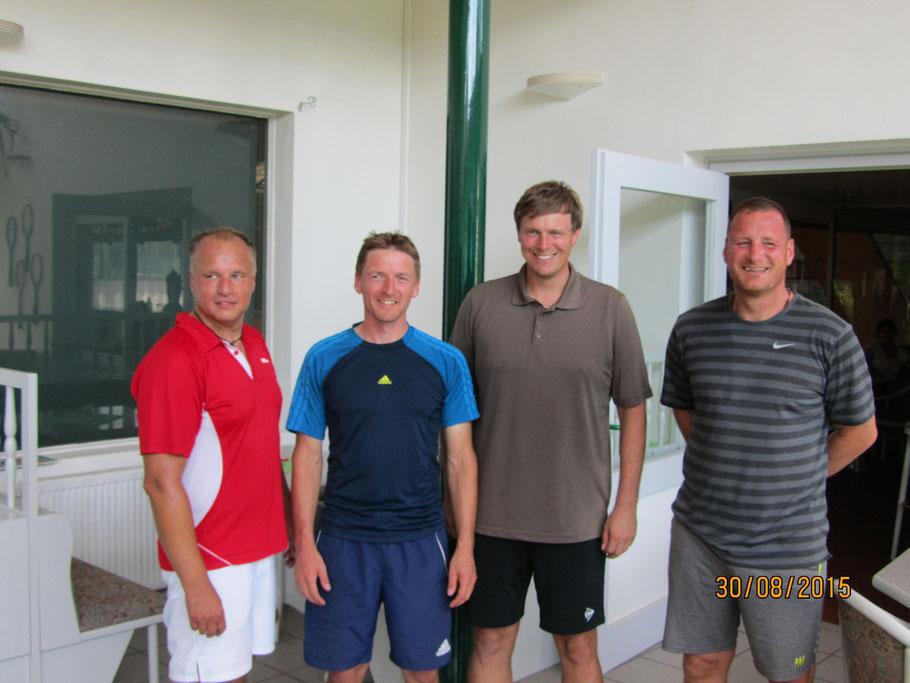 He 40 HF: 4. Jens Reinheckel, 3. Thomas Butzek, 2. Martin Balzer u. 1. Marcus Kleber