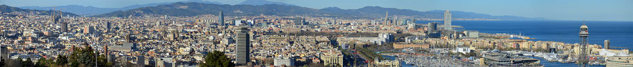Das Panorama von Barcelona.