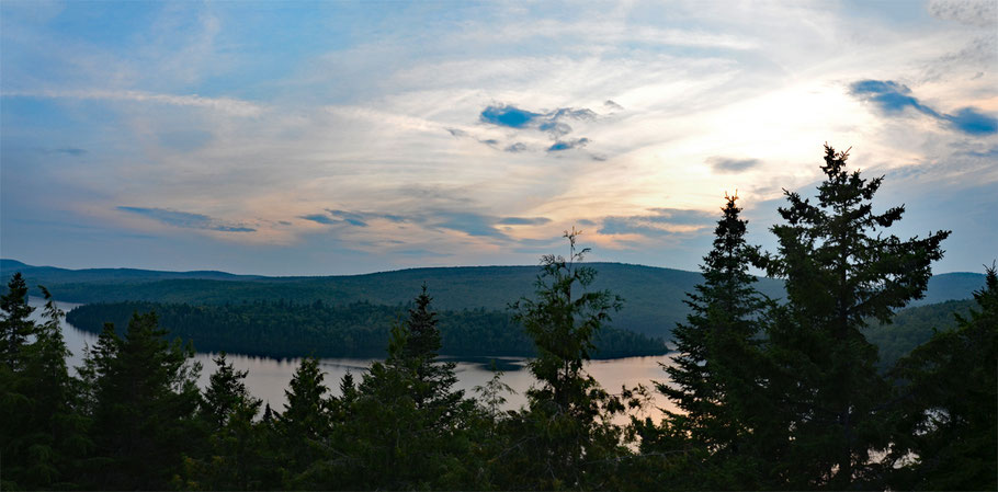 Abendstimmung am Lac Sacacomie.