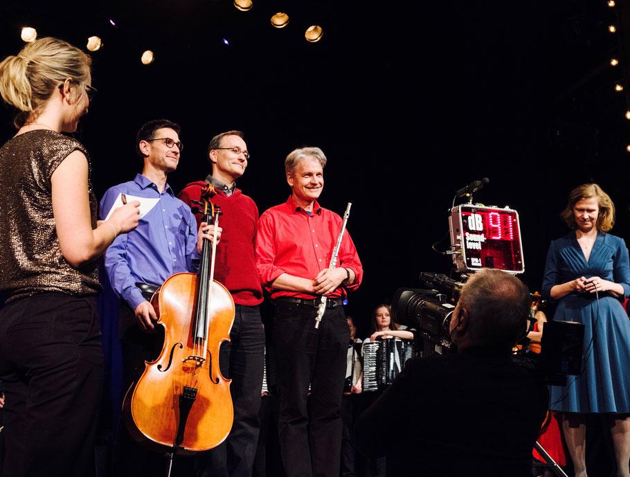 18.11.2017 – auf der Bühne des 1. rbb-Klassik-Slams, Foto: M. Donderer