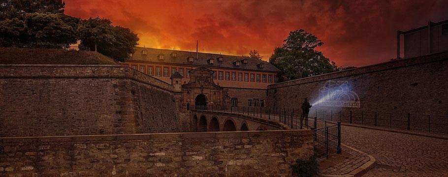 Historischer Petersberg in Erfurt - Zu jeder Tageszeit faszinierend! Foto: Melanie Kahl I www.FOTOTOUR-THUERINGEN.de