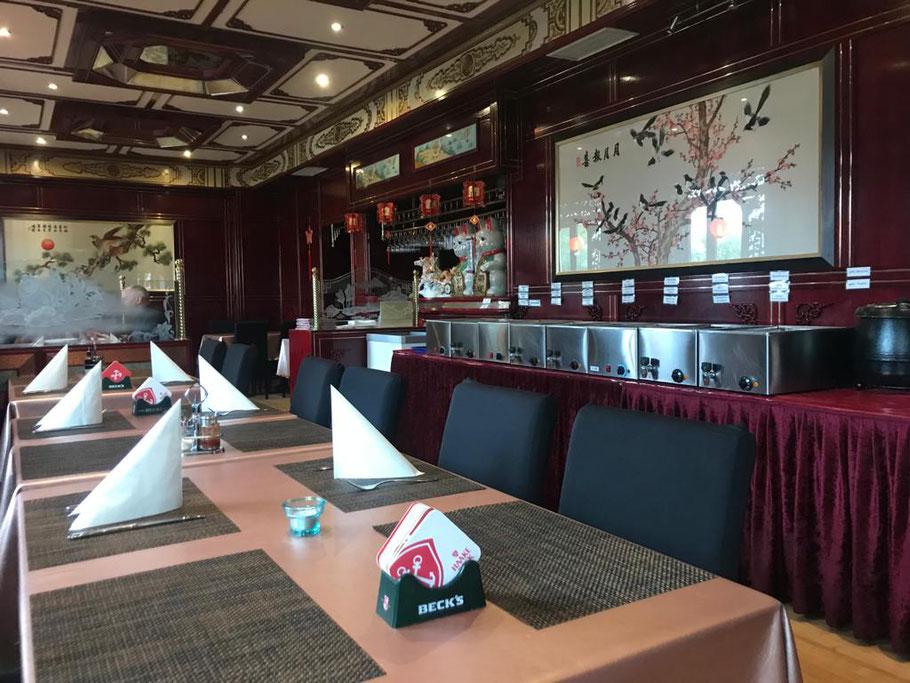 Das China-Restaurant Yang Yang Gao Sheng in Bremen-Arsten gehört leider der Vergangenheit an. Ende 2019 wurde der Geschäftsbetrieb eingestellt. Es war noch eingerichtet wie ein klassisches China-Restaurant. (Foto: Jens Schmidt, 2019)