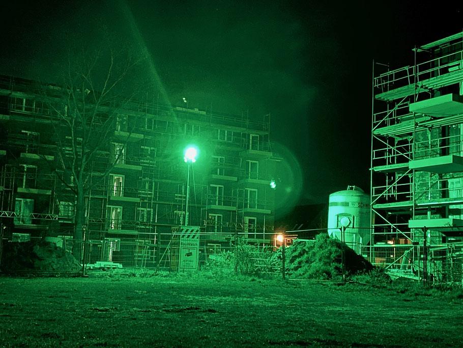 Grünes Überwachungslicht in Obervieland, Ecke Hans-Hackmack-Straße in Bremen-Kattenturm, Bremen Obervieland (Foto: 04-2020)