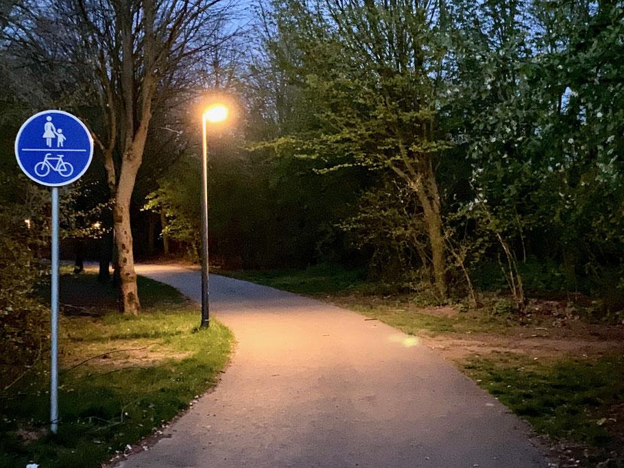 Parkanlage Wischmannstraße in Bremen-Kattenesch, Bremen Obervieland (Foto: 04-2020, Jens Schmidt)