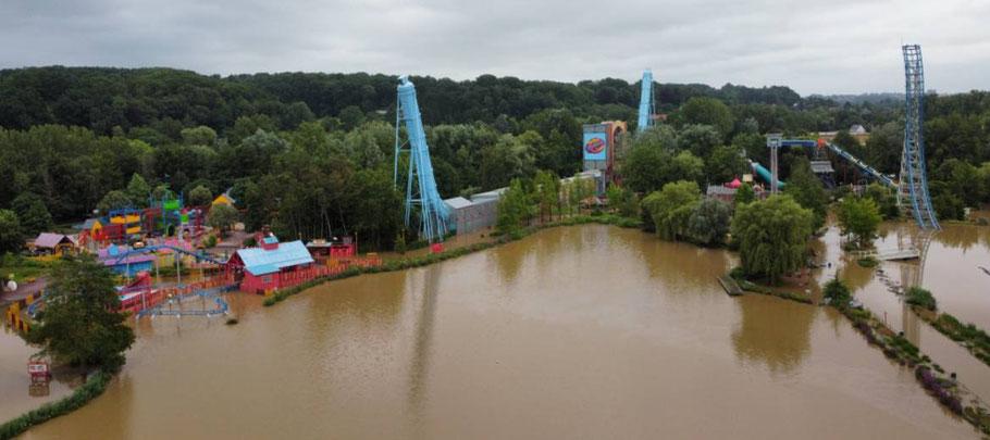 walibi belgien unwetter 2021 achterbahn freizeitpark