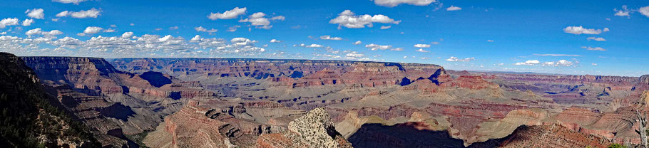Motoglobe Motorradreisen. Vom Grandview Point in das Panorama in den Grand Canyon wunderschön.
