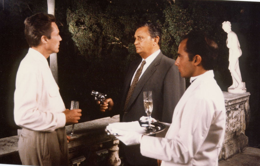 "Marc SAEZ in ""Day of atonement"" with christopher Walken and roger hanin"