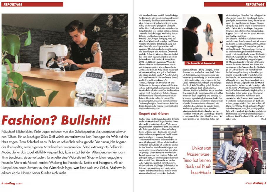 Wetterauer-Zeitung | Streifzug Mai 2014 | Über Bullshit Clothing