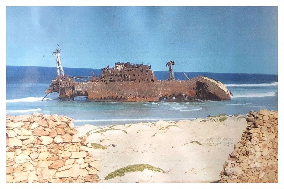 Cabo Santa Maria, Schiffswrack, Boa Vista, Boa Vista Tours, Cabo Verde, Cape Verde, Kaperverden