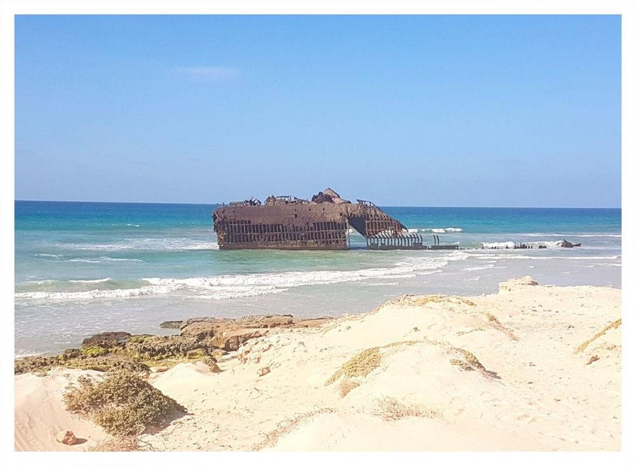 Cabo Santa Maria, Schiffswrack, Boa Vista, Boa Vista Tours, Cabo Verde, Kapverden