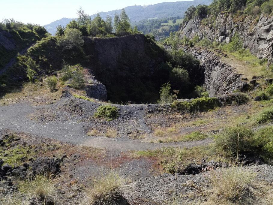 Ein Vulkan Krater