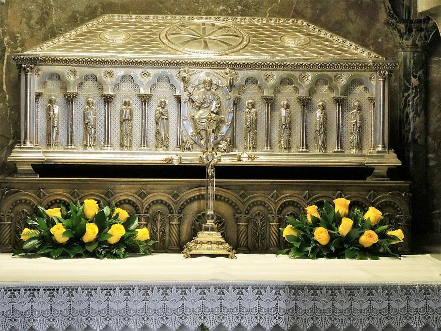 Grab der Apostel Jakobus in der Kathedrale von Santiago