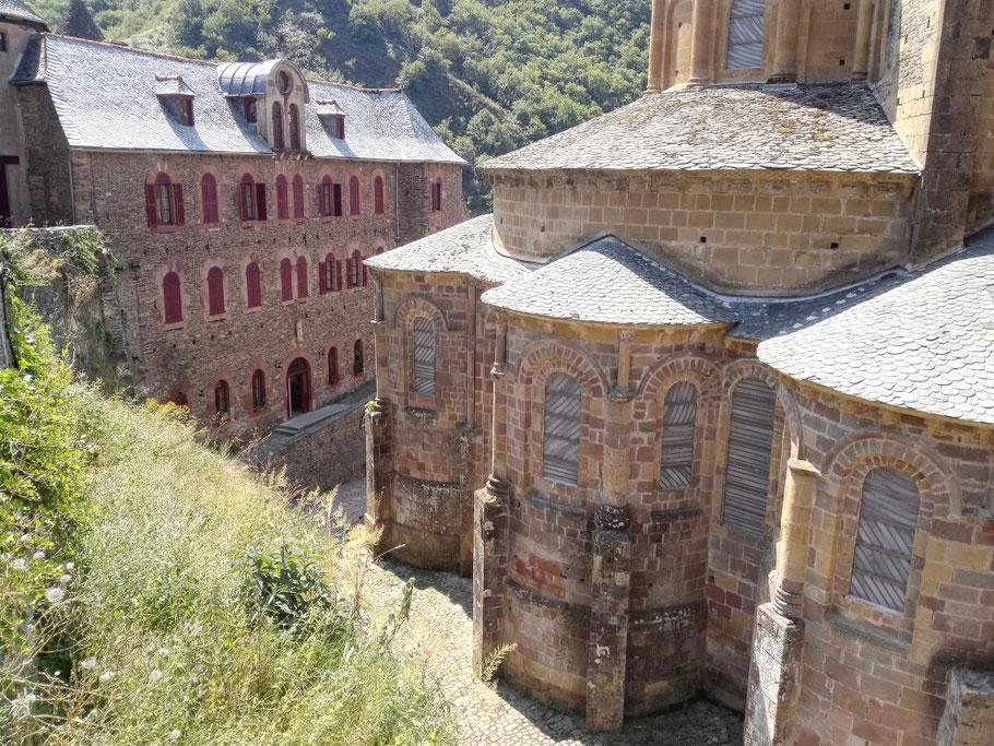 In dem Kloster in Conques übernachte ich