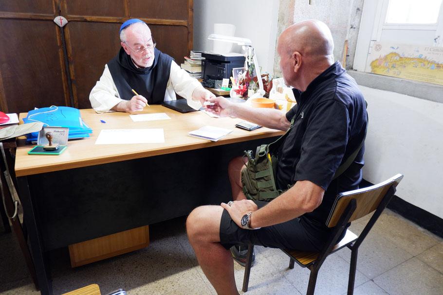 Check in Klosterherberge Sobrado Dos Monxes