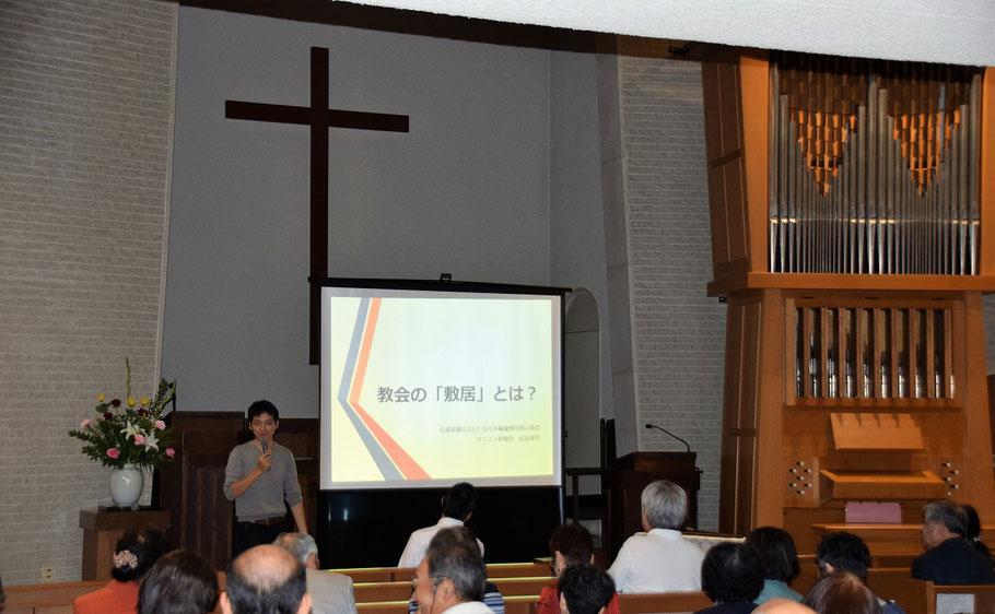 同じく、伝道協議会にて キリスト新聞社の社長・松谷信司さんです