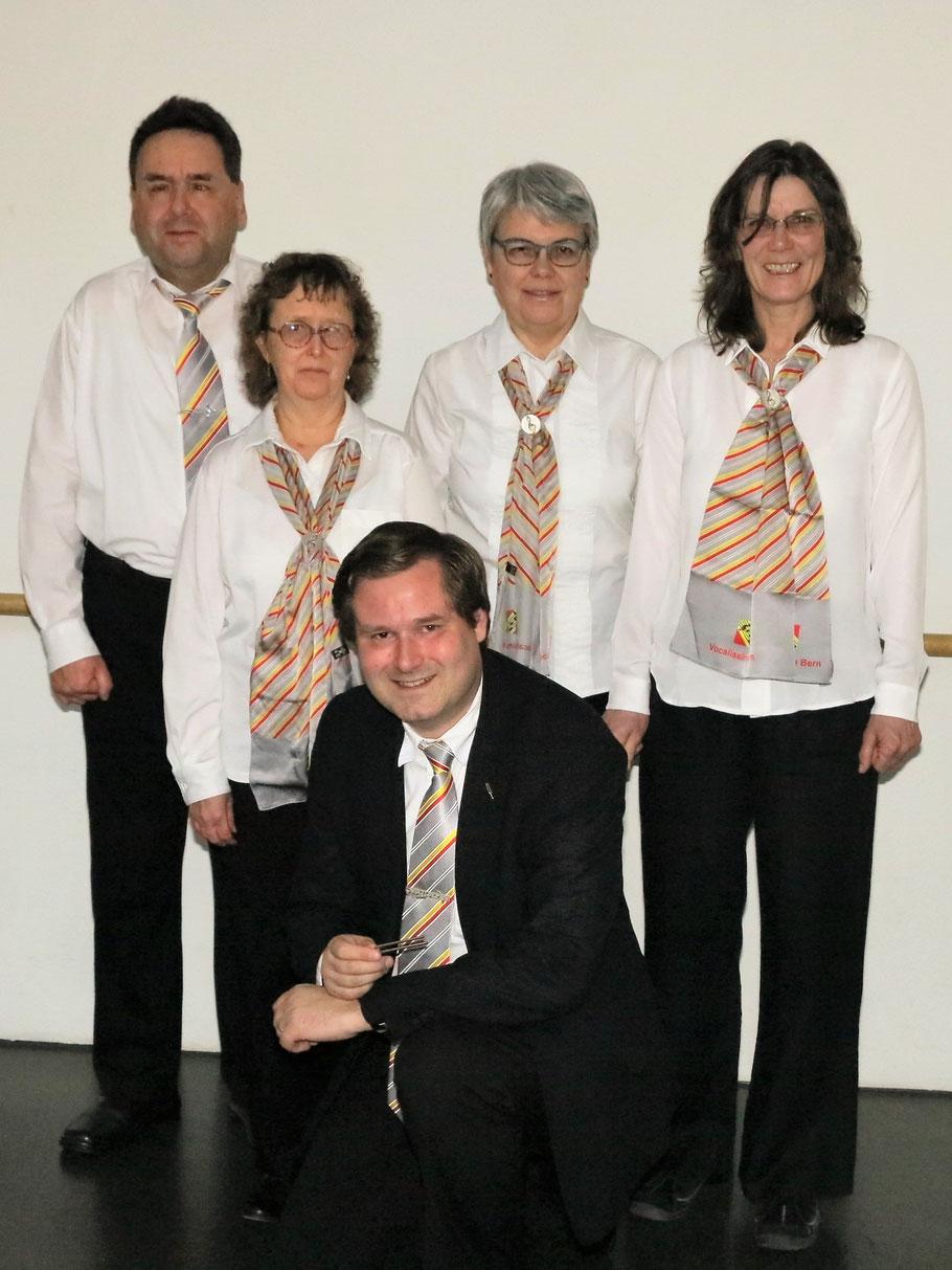 Die aktiven Sängerinnen und Sänger des Vocal-Ensembles Vocalissimo Bern nach der Jahreshauptversammlung am 25.03.2017