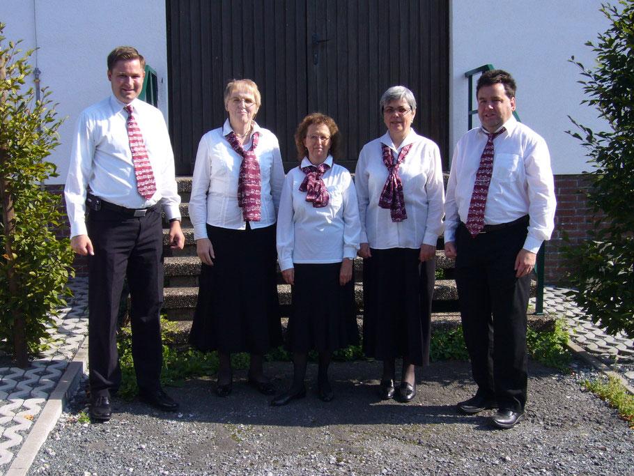 von links nach rechts:   Manfred Grotzki, Lisbeth Käser, Monika Büttiker, Therese Scheidegger und Martin Zingre