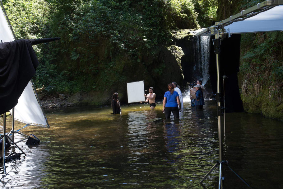 Romantische Kulisse: Filmaufnahmen am Gerolsauer Wasserfall