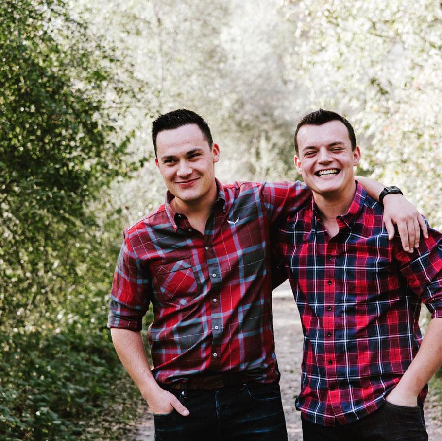 Geschwisterliebe Fabian und Patrick