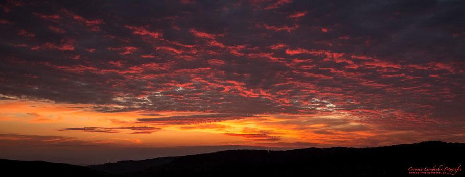 Sonnenuntergang am Kaisterstuhl