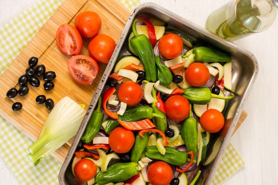 Veganes Grillgemüse mit würzigem Gemüsesud