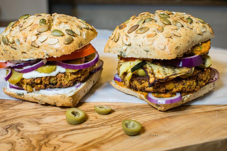 Burger mediterran und klassisch