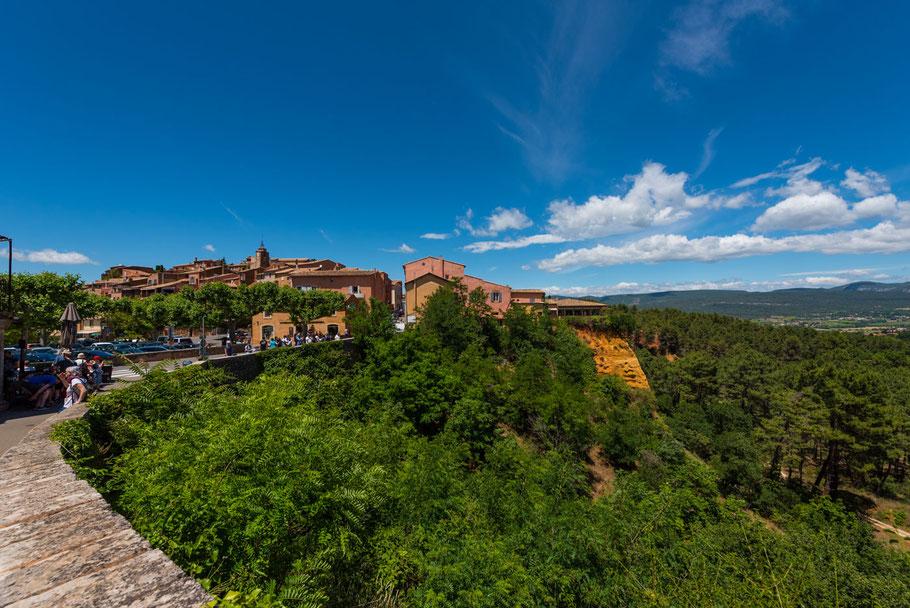 Roussillon, Provence, Lavendel, Ockerfelsen, Südfrankreich,