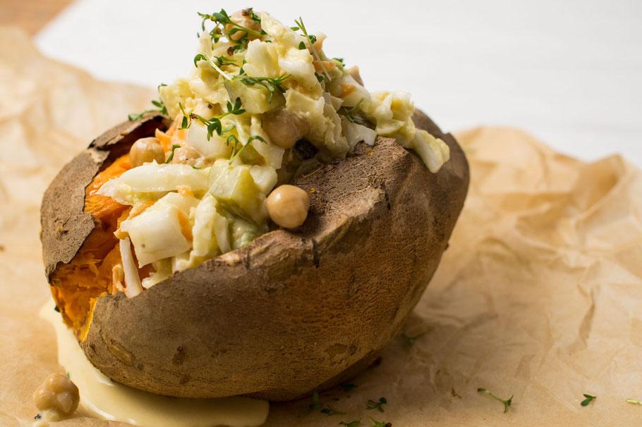 Salat mit Süßkartoffel