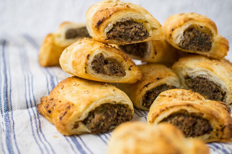 Champignon-Pastete im Blätterteigmantel Partyfood