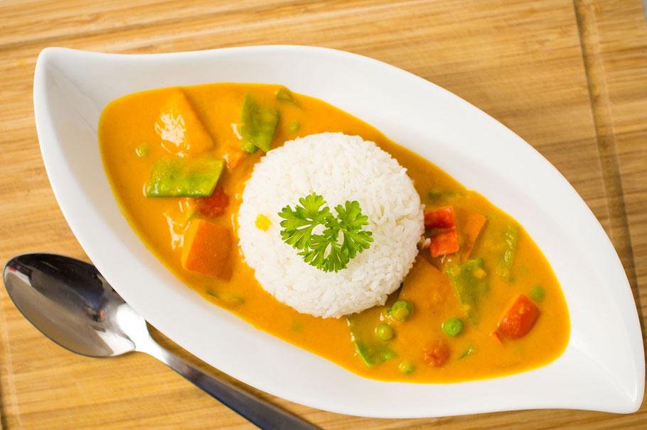 Veganes Kürbis-Curry