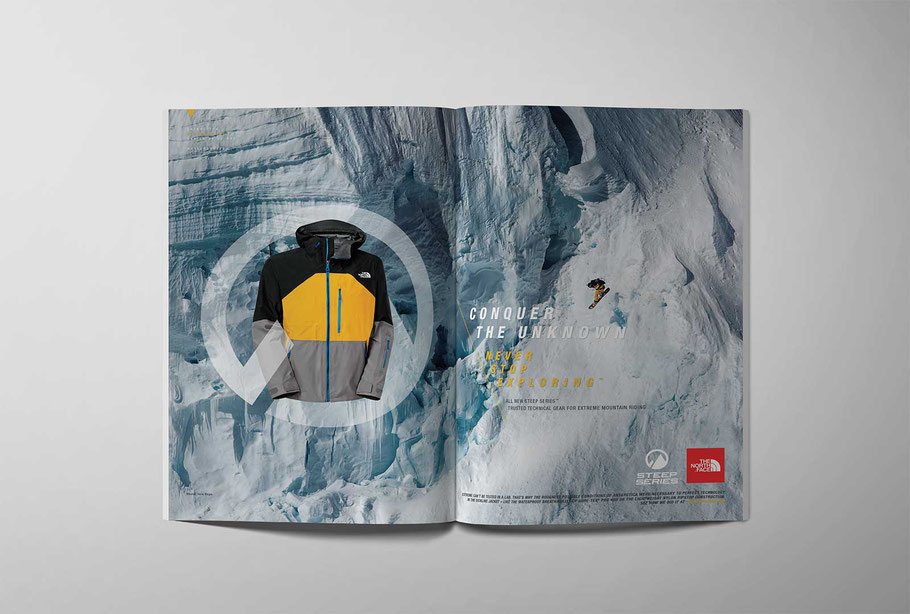 Steep Series: double page spread magazine ad