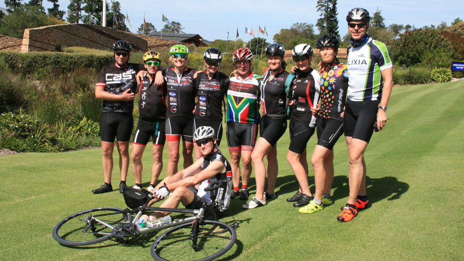 Pro Biketour Radsportreisen durch Südafrika - Teilnehmer der Radreise