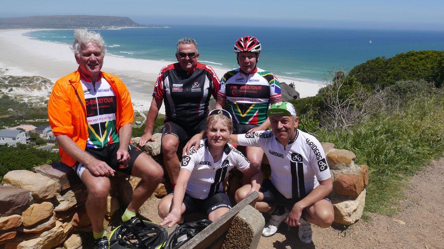 Das Team der Radsportreise Garden Route 2017