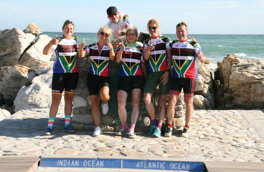 Das Team der Fahrradreise Garden Route 2018