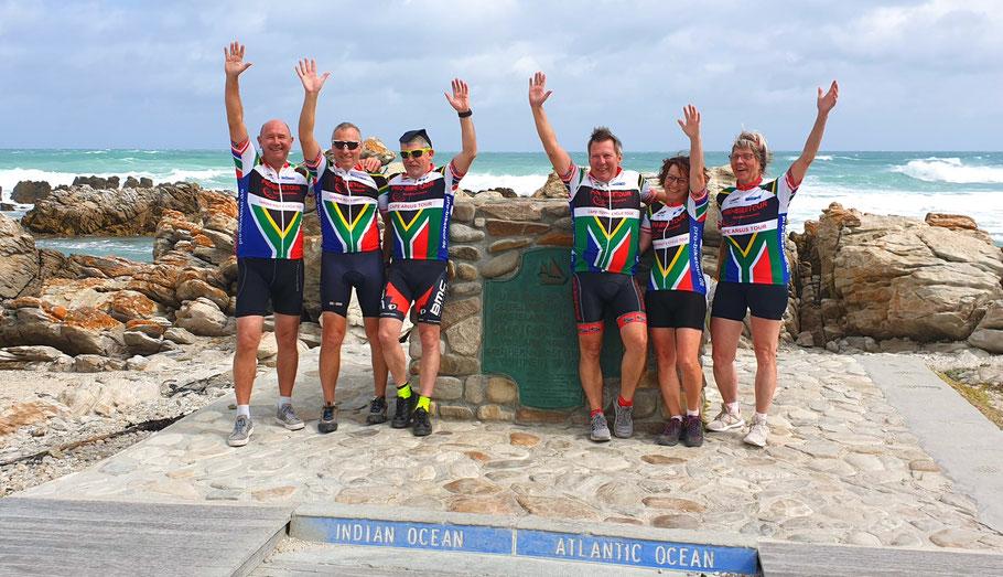 Die Teilnehmer der Pro-Biketour Radreise 2019 in Südafrika auf der Garden Route