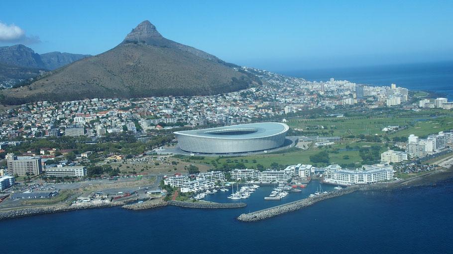 Kapstadt in SÜdafrika - Ziel der Radreise entlang der Garden Route