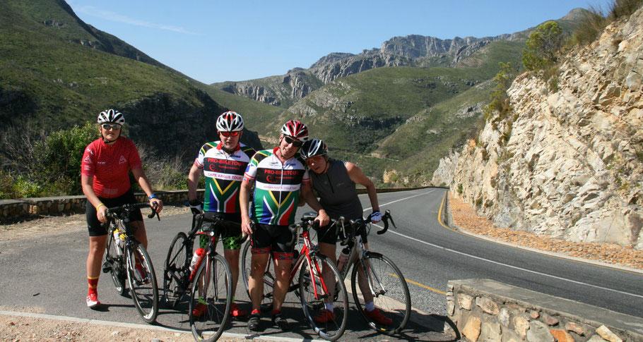 Gemeinsam Rennradfahren in Südafrika