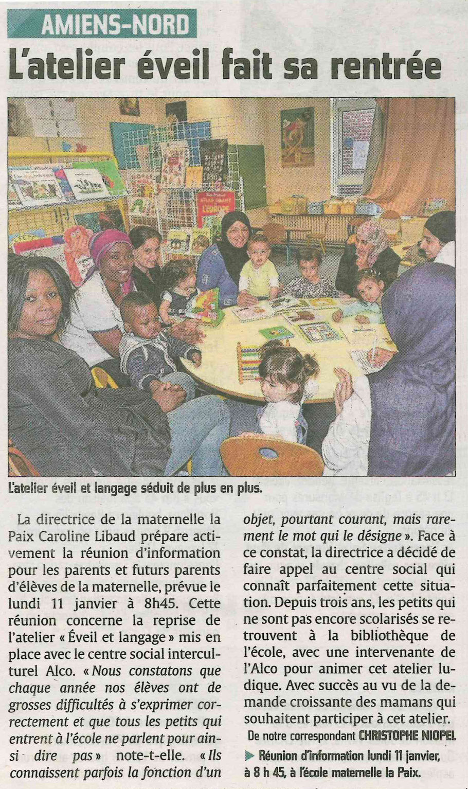 Article paru dans le Courrier Picard le 11.01.2016