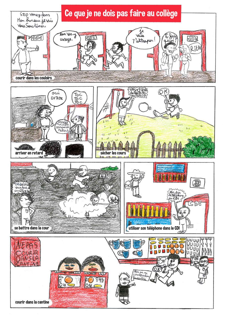 Planche bande dessinée DARE Centre ALCO