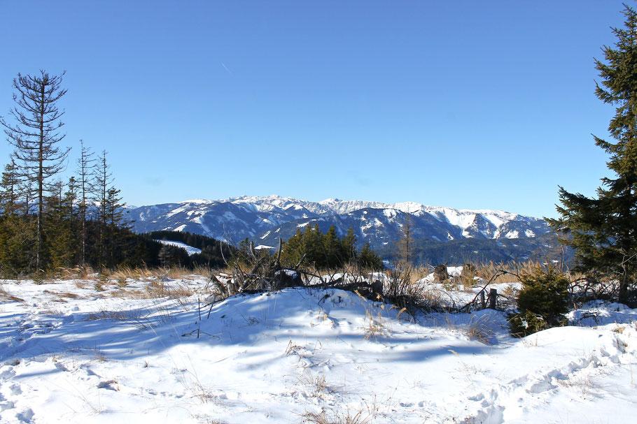 Hochschwabblick vom Troiseck aus, Wanderung im Mürztal
