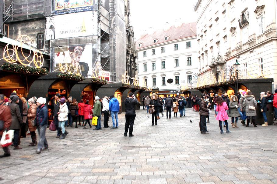 Weihnachtsmarkt am Stephansplatz in Wien